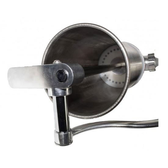 Aparat de umplut carnati/carnatar ELEFANT KY-2005C, 2.5 kg, din inox, 4 palnii, prindere de masa