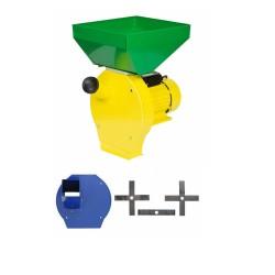 Moara cu ciocanele 3 in 1 (boabe, stiuleti, lucerna) PROCRAFT ME3500, Cuva Mare, 3500W, 200kg/h, 3000 rpm