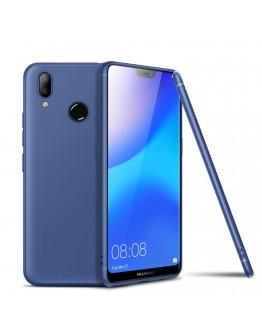 Carcasa protectie spate din gel TPU pentru Huawei P20 Lite, albastra