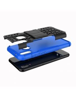 Carcasa protectie spate anti-alunecare pentru Huawei P20 Lite, albastra