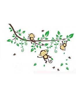 """Sticker perete """"Maimute in copac"""""""