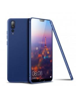 Carcasa protectie spate din gel TPU pentru Huawei P20 Pro, albastra