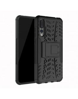 Carcasa protectie spate anti-alunecare pentru Huawei P20 Pro, neagra