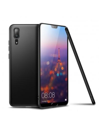 Carcasa protectie spate din gel TPU pentru Huawei P20, neagra