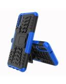 Carcasa protectie spate anti-alunecare pentru Huawei P20, albastra inchis