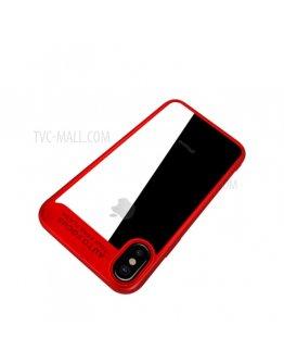Carcasa protectie spate din gel TPU si acrilic pentru iPhone X/Xs 5.8 inch, rosie