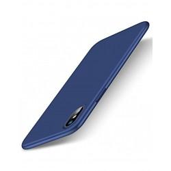 Carcasa protectie spate din gel TPU 0.6 mm pentru iPhone X/Xs, albastra