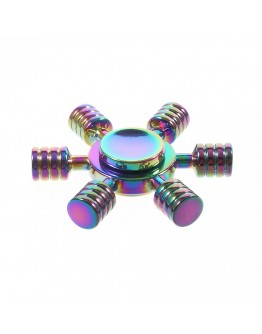 Jucarie antistres Fidget Spinner cu 6 brate din metal