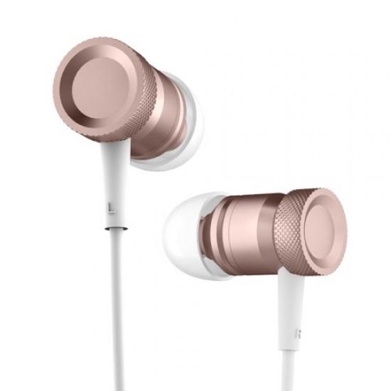 Casti Universale Stereo Rock 3.5mm in-ear cu microfon - rose gold