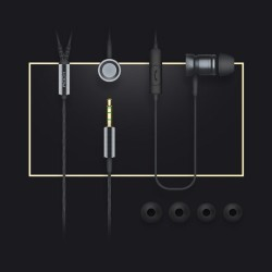 Casti Universale Stereo Rock 3.5mm in-ear cu microfon - gold
