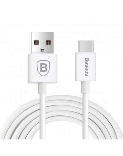 Cablu de sincronizare si incarcare Baseus TYPE C - USB, alb
