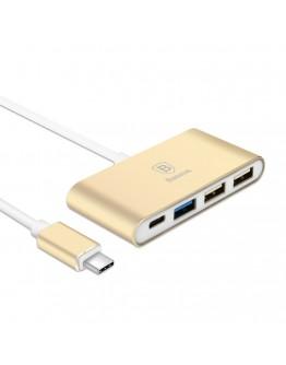 Hub USB Type-C la 3 x USB 3.0 + 1 USB Type-C