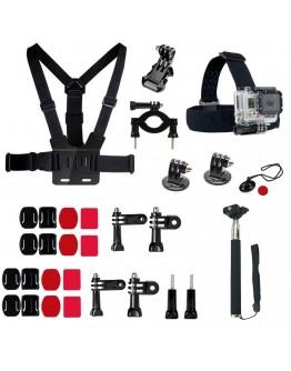 Kit 30 in 1 accesorii pentru camere sport