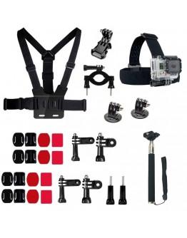 Kit 29 in 1 accesorii pentru camere sport