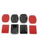 4 baze de montare + banda adeziva pentru camere sport