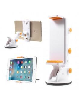 Suport auto flexibil pentru telefoane si tablete 11.5-19 cm - alb