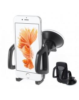 Suport auto pentru telefoane 40-95 mm - negru