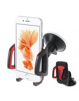 Suport auto pentru telefoane 40-95 mm - rosu