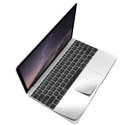 """Folie protectie palm rest si trackpad aspect aluminiu pentru MacBook Pro 15.4"""" 2016 / Touch Bar"""