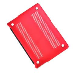 "Carcasa protectie slim din plastic pentru MacBook Air 11.6"", rosie"