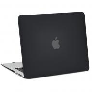 "Carcasa protectie slim din plastic pentru MacBook Air 13.3"", neagra"