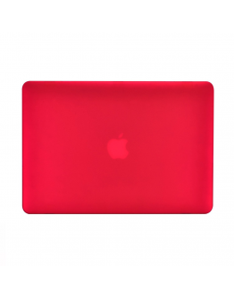 "Carcasa protectie slim din plastic pentru MacBook Air 13.3"", rosie"