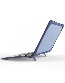 Carcasa protectie spate cu suport pentru MacBook Air 13.3 inch, albastru inchis