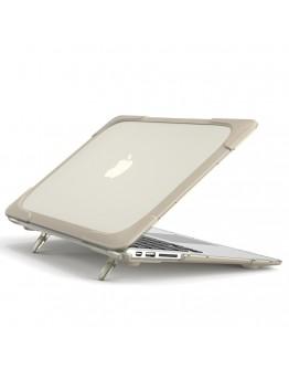 Carcasa protectie spate cu suport pentru MacBook Air 13.3 inch, kaki