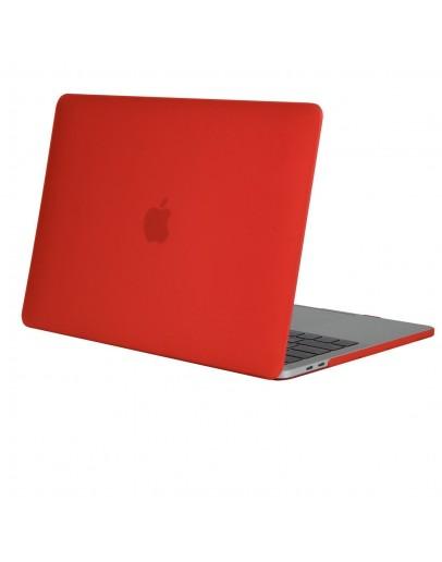 "Carcasa protectie slim din plastic pentru MacBook Pro  15.4"" 2016 / Touch Bar, rosie"