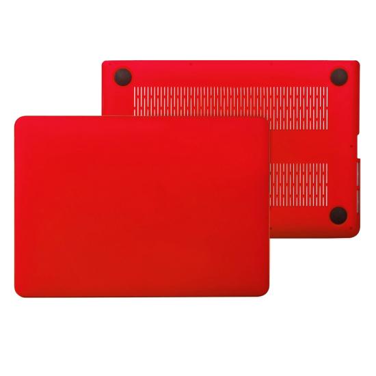 """Carcasa protectie slim din plastic pentru MacBook Pro 15.4"""" (Non-Retina), rosie"""