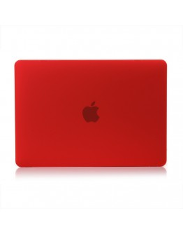 "Carcasa protectie slim din plastic pentru MacBook Retina 12"", rosie"