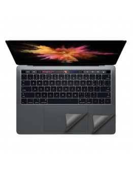 "Folie protectie palm rest si trackpad aspect aluminiu pentru MacBook Pro 13.3"" 2016 / Touch Bar, space gray"