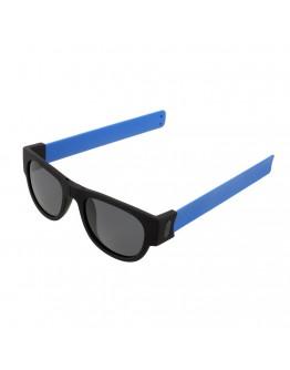 Ochelari de soare unisex, pliabili, albastri