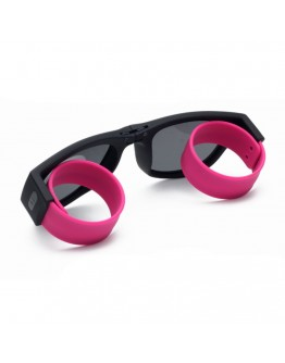 Ochelari de soare unisex, pliabili, roz