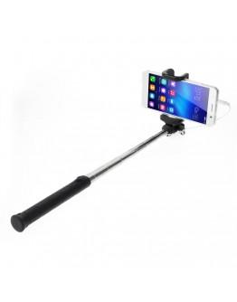 Selfie Stick extensibil cu fir de 3,5mm - negru