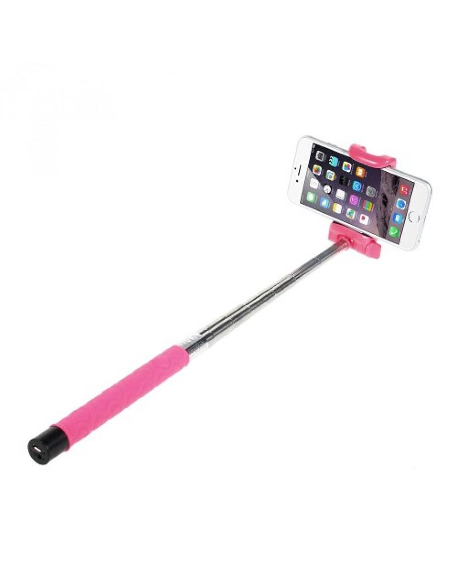 selfie stick roz cu bluetooth compatibil cu telefoane iphone samsung lg htc etc. Black Bedroom Furniture Sets. Home Design Ideas
