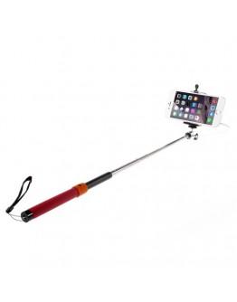 Selfie Stick extensibil cu fir - rosu