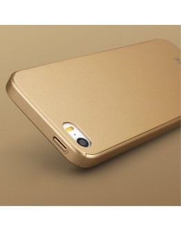Husa protectie completa IPAKY pentru iPhone SE 5s 5, Gold