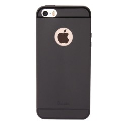 Carcasa protectie spate din silicon pentru iPhone SE / 5S / 5 - negru