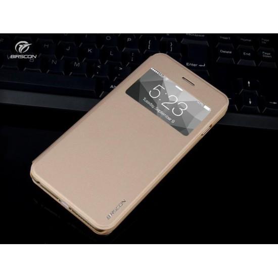 """Husa protectie cu """"Window View"""" pentru iPhone 6 Plus / 6S Plus 5.5"""", gold"""