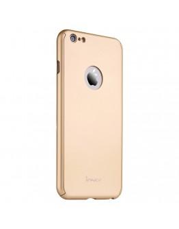 Husa protectie completa IPAKY pentru iPhone 6 Plus / 6S Plus 5.5 inch, gold