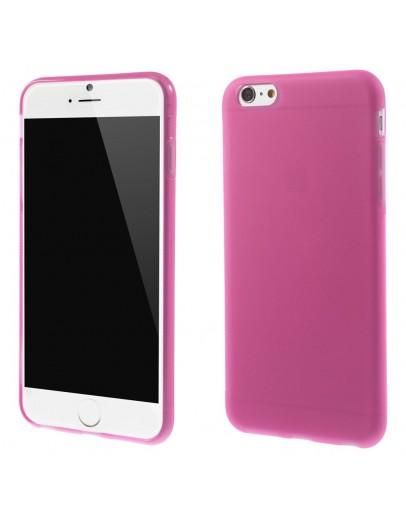 """Carcasa protectie spate din gel TPU pentru iPhone 6 Plus / 6S Plus 5.5"""", roz"""