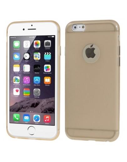 """Carcasa protectie spate din gel TPU cu decupaj pentru iPhone 6 Plus / 6S Plus 5.5"""", gold"""