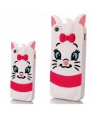 "Carcasa protectie spate 3D ""pisica"" din silicon pentru iPhone 6 Plus / 6S Plus"