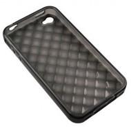 Carcasa protectie spate din silicon pentru iPhone 4 / 4S - gri