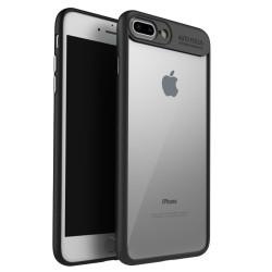 Carcasa protectie spate din gel TPU si acrilic pentru  iPhone 8 Plus / 7 Plus 5.5 inch,  neagra