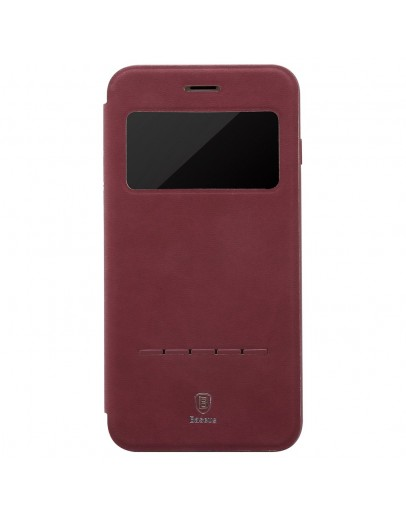"Husa protectie ""Smart View"" BASEUS pentru iPhone 7 Plus 5.5 inch, rosie"