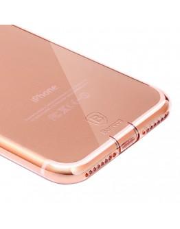 Carcasa protectie spate cu dopuri anti-praf pentru iPhone 7 Plus / iPhone 8 Plus, rose gold