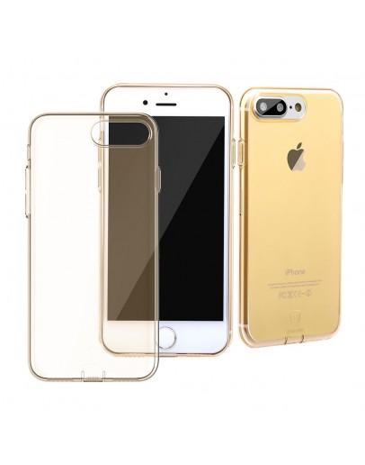Carcasa protectie spate cu dopuri anti-praf pentru iPhone 7 Plus / iPhone 8 Plus, gold