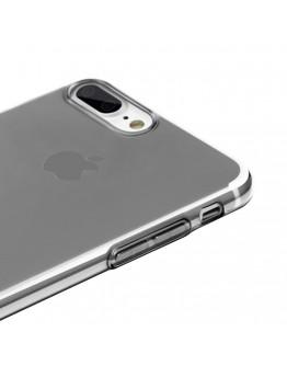 Carcasa protectie spate cu dopuri anti-praf pentru iPhone 7 Plus / iPhone 8 Plus, neagra